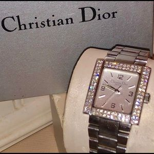 Christian Dior Riva Diamond Watch D101-1013 Rare